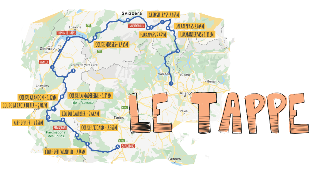 #LazyAlps2020: le tappe